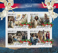 MOZAMBIQUE 2016 - Christmas, Donkey. Official Issue