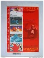 België Belgique 2005 Sprookjes Van Andersen Contes D'Andersen Planche 2 BL 125 3449-3453 Yv 3334-3338 MNH ** Planche 2 - Blocks & Sheetlets 1962-....