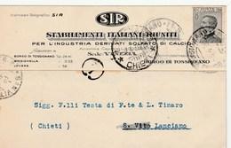 5752.   SIR - Stabilimenti Italiani Riuniti - Venezia - Commerciale - 1930 Per S. Vito Lanciano - Commercio
