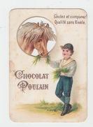 CHROMO CHOCOLAT POULAIN / LE SOIN DU CHEVAL A L'ECURIE - Poulain