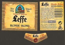 BELGIO - Etichetta Birra Beer Bière LEFFE - Abbazia - Bière