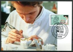 "Germany,Allemagne 1987 Maxicart,MC Mi.Nr.1316 ""Handwerksberufe,Zahntechniker,Jugendmarke"" 1MK Used - Factories & Industries"