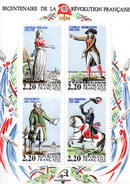 France.bloc No 10 De 1989.bicentenaire De La Révolution Française.n**. - Sheetlets