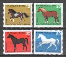 Germany Bund 1969 Mi 578-581 MNH HORSES - Paarden