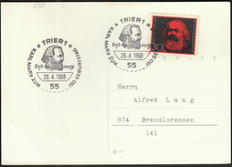 Germany Trier 1968 / Karl Marx / German Philosopher, Economist, Sociologist, Journalist, And Revolutionary Socialist - Karl Marx