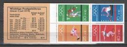 Germany Bund 1972 Markenheftchen Mi 17 MNH SUMMER OLYMPICS  (1) - [7] République Fédérale