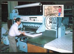 """Germany,Allemagne 1987 Maxicart,MC Mi.Nr.1318""""Handwerksberufe,Buchbinder,Jugendmarke"""" 1MK Used - Fabriken Und Industrien"""