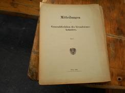 Mitteilungen Der K.K. Generaldirektion Des Grunsteuerkatasters Wien 1914 Heft 1 ,2 4,5 - Bücher, Zeitschriften, Comics