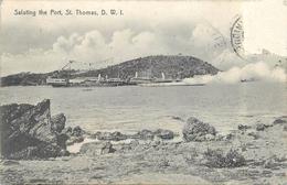 Saluting The Port. St.Thomas D.W.I. (carte Vendue En L'état). - Vierges (Iles), Britann.