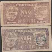 N.VIETNAM  2  BANKNOTE   5 DONG    Fine Réf  322 - Vietnam