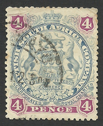 Rhodesia, British South Africa Company, 4 P, 1897, Sc # 54, Mi # 53, Used.. - Great Britain (former Colonies & Protectorates)