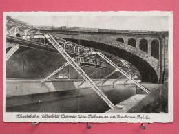 Allemagne - Schwebebahn Elberfeld - Barmen Drei Bahnen An Der Sonnborner Brücke - 1940 - Scans Recto-verso - Wuppertal