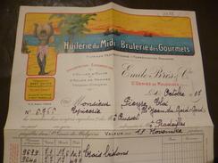 Facture Illustrée Saint Géniès De Malgoires Gard 1937 Huilerie Du Midi E.Brès - Other