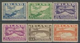 Islanda Posta Aerea 1934 Serie N.15-20 MVLH Cat. € 138 - Poste Aérienne