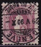Switzerland / Schweiz / Suisse : 1882 Stehende Helvetia 1 Fr. Lila Weises Papier Zahnung 11 ¾ Michel 63 A - 1882-1906 Wapenschilden, Staande Helvetia & UPU