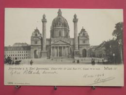 Autriche - Wien - Pfarrkirche Karl Borromäus - Précurseur 1904 - Jolis Timbres - Scans Recto-verso - Églises
