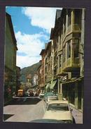CPSM ANDORRE - VALLS D'ANDORRA - ANDORRA LA VELLA - Promenade Princep Beniloch ANIMATION AUTOMOBILES - Andorre