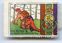 VIGNETTE THE KING'S - SHROPSHIRE LIGHT INFANTRY - Erinnofilia