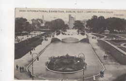 Irish International Exhibition Dublin 1907 Lake Water Chute Postcard 409b - Expositions