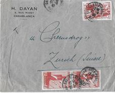 MAROKKO - ZÜRICH → Cover From Casablanca To Zürich 1942  ►Poste Aerienne◄ - Maroc (1956-...)