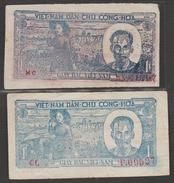 N.VIETNAM  2  BANKNOTE   1 DONG    Fine Réf  321 - Vietnam