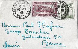 MAROKKO - ZÜRICH → Cover From Casablanca To Berne/Suisse 1947 - Maroc (1956-...)