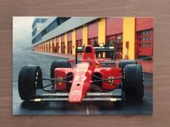 Fotografia Ferrari F1 1990 Con Annullo Sul Retro Cartolina Trofeo Enzo Ferrari Int. Giov. Calcio Maranello 1-4-1991 - Grand Prix / F1