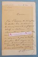 L.A.S 1904 Capitaine Commandant 4è Régiment D'artillerie De Besançon > Docteur Masquin Lettre Autographe LAS Doubs - Autographes