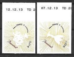 France 2014 - Yv N°  939 Et 940 ** - Baccarat (coin Daté) - Sellos Autoadhesivos