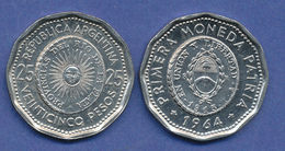 Argentina - 1964 - 25 Pesos - KM 61 - XF - Argentine