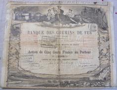 Action BANQUE DES CHEMINS DE FER D'INTERET LOCAL Haute Loire - Chemin De Fer & Tramway