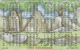 Isle Of Man, MAN 100, 1996 Calendar - King Orry's Grave, 2 Scans. - Isla De Man