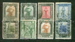 1921 - Colonie Italienne - LIBYE - Légionnaire Romain, Déesse De L'abondance, Galère Romaine, Victoire - Michel Ange - Libië