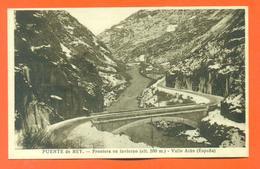 """CPA Puente De Rey """" Frontera En Invierno ( Alt 580 M ) Vallée Aran """"  LJCP 19 - Spagna"""