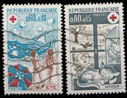 France 1974. ~ YT 1828 à 1829 - Série Croix-Rouge - Oblitérés
