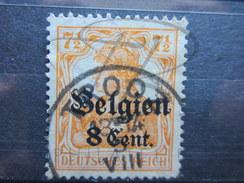 """VEND TIMBRE D ' ALLEMAGNE - BELGIQUE N° 13 , CACHET """" TROOZ """" !!!! - Zone Belge"""