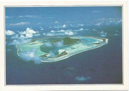 T1738 Polinesia Francese - Maupiti - L'isola Vista Dall'aereo - Cartolina Con Legenda Descrittiva / Non Viaggiata - Océanie