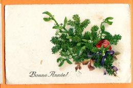 HA284, Bonne Année, Mushroom, Champignon, Circulée 1928 - Nouvel An