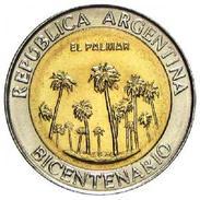 "Argentina - 2010 - 1 Peso - Bicentennial ""El Palmar"" - KM 156 - Unc - Argentine"
