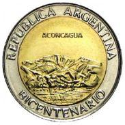"""Argentina - 2010 - 1 Peso - Bicentennial """"Aconcagua"""" - KM 157 - Unc - Argentine"""