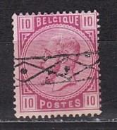 BELGIQUE - N°Y&T - 38 - 10c  Rose   - Leopold II  - Oblit Lineaire CE - 1883 Léopold II