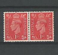 1937 - 47  N° 210a  X 2 SE-TENANT  K COUCHEE    GEORGES VI  NEUF ** GOMME 2 SCANNE - Unused Stamps