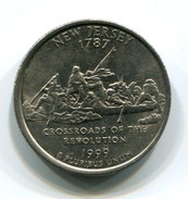 1999 USA New Jersey 25c  Coin - 1999-2009: State Quarters