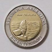 "Argentina - 2010 - 1 Peso - Bicentennial ""Mar Del Plata"" - KM 158 - Unc - Argentine"