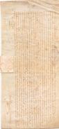 LETTRE EN LATIN DE BORDEAUX SUR PEAU DE PORC OU CHEVRE ALBELLARD - Manuscrits