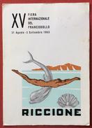 CARTOLINA RICCIONE FIERA DEL FRANCOBOLLO 1963 - VIAGGIATA - Nuoto
