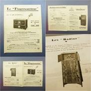 *PUBLICITE RADIO LE FINGERS-SECTEUR RADIOPHONAL RADIOR - T.S.F Pick-up Phonographe Desdoigts Saint Mandé - Radio & TSF