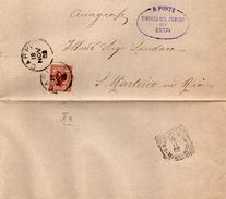 1902 LETTERA CON ANNULLO CARPI MODENA + S. MARTINO IN RIO - Storia Postale