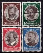 DEUTSCHES REICH 1934 - MiNr: 540-543 Komplett Used - Deutschland
