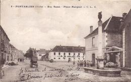 11862.....PONTARLIER, Rue Basse Et Place Marguet - Pontarlier
